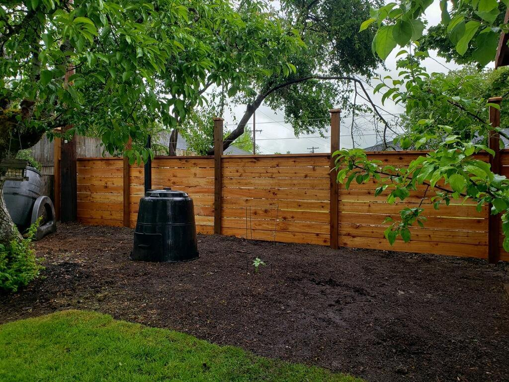 An example of our work as an Blaine fence company