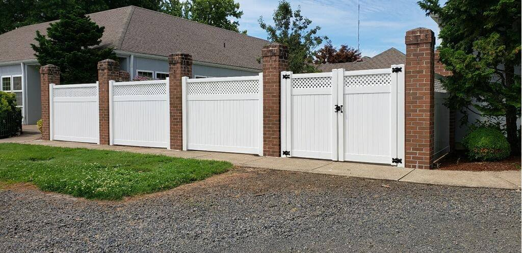 An electric motorized gate installation by F&W fence company
