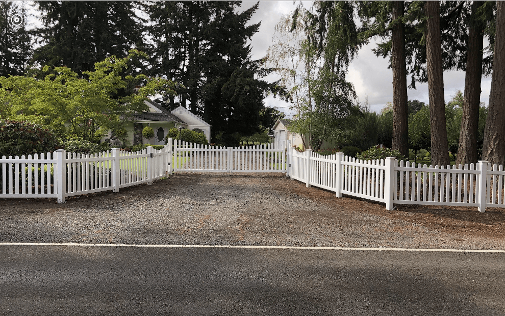 A lifetime vinyl fence installation by F&W Aumsville fence company