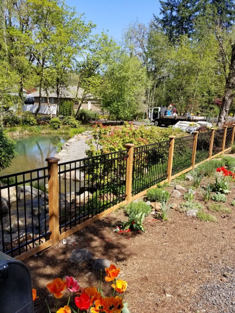 a Dallas ornamental iron fence installation by F&W fence company