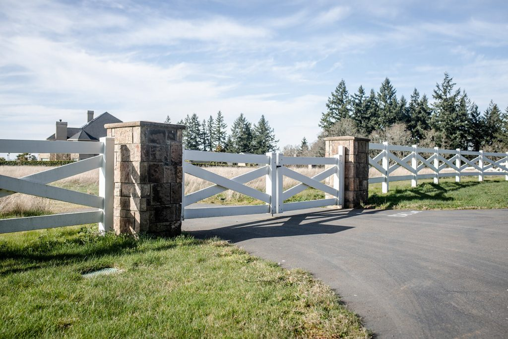 a Mill City gate installation by F&W fence company