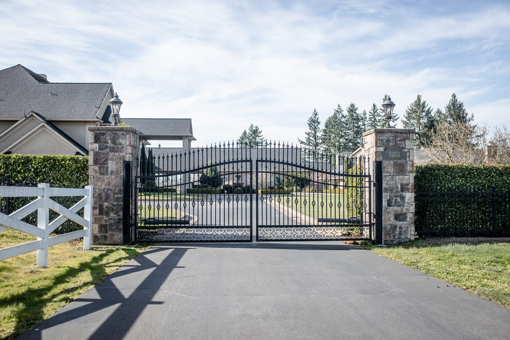 a Sheridan gate installation by F&W fence company