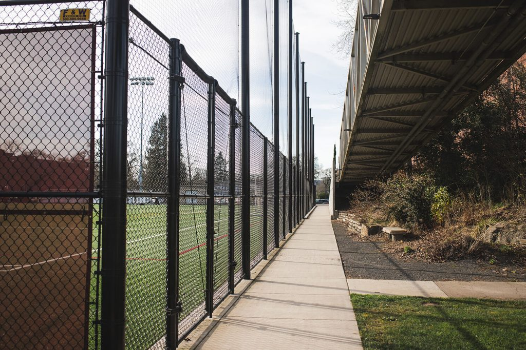 A Salem chain link fence installation by F&W fence company