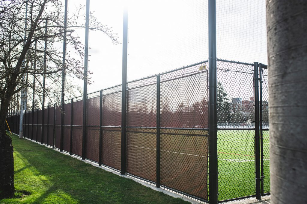 a McMinnville commercial fence installation by F&W fence company